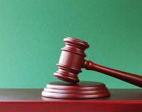 Gavel on a stand Royalty Free Stock Photo