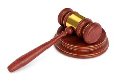 Gavel with stand Royalty Free Stock Image