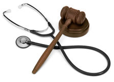 Gavel & stethescope Royalty Free Stock Photography