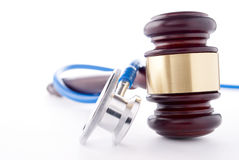 Gavel and stethoscope royalty free stock photography