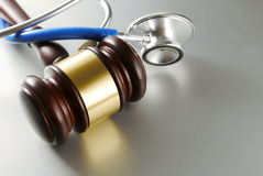 Gavel and stethoscope Royalty Free Stock Images