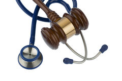Gavel and stethoscope Stock Photos