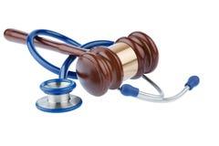 Gavel and stethoscope Royalty Free Stock Photo