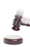 Gavel strike Royalty Free Stock Photos