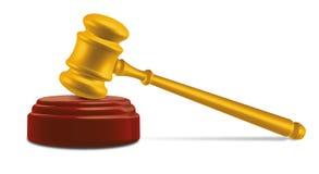 Gavel sur l'enclume Illustration Libre de Droits