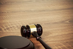 Gavel on the table Royalty Free Stock Photo