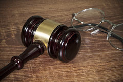 Gavel on the table Royalty Free Stock Image