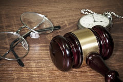 Gavel on the table Stock Photo