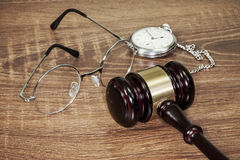 Gavel on the table Stock Images