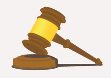 Gavel With Thin Handle Vector Illustration Royalty Free Stock Photo