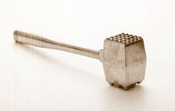 Gavel to mitigate of meat Royalty Free Stock Photo