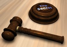 Gavel with Top Secret Royalty Free Stock Photo