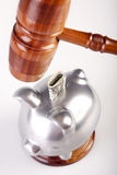 Gavel of truth and pig Stock Image