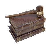 Gavel and Volumes of Law Books Stock Photography