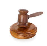 Gavel on white Royalty Free Stock Images