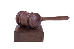 Gavel on white Stock Photography