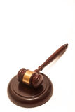 Gavel on White Background Stock Image
