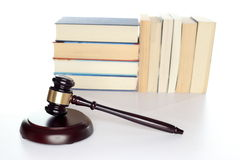Gavel on white desk Royalty Free Stock Image