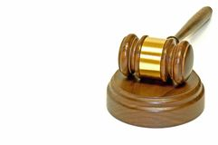 Gavel and wooden block Stock Photo