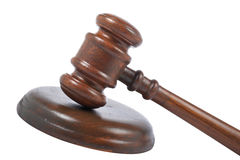 Gavel wooden detail Royalty Free Stock Photography