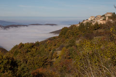 Gavelli village with the fog Stock Image