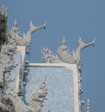 Gaveltopp på Ubosot, Thailand Arkivfoton