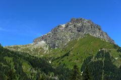 Gaver. Piana del Gaver (Bs),Valley of Caffaro,Alps,Lombardy,Italy, the Mount Bruffione Royalty Free Stock Image