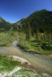 Gaver. Piana del Gaver (Bs),Valley  Caffaro,Lombardy,Italy,the river Caffaro Royalty Free Stock Image
