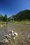 Gaver. Piana del Gaver (Bs),Valley  Caffaro,Lombardy,Italy,the river Caffaro Royalty Free Stock Photos
