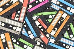 Gaveta de cassete áudio velha imagem de stock