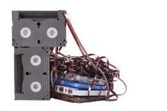 A gaveta de música no fundo branco Foto de Stock