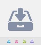 Gaveta Inbox - ícones do granito ilustração stock