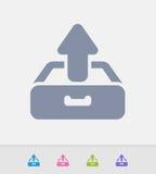 A gaveta Outbox - ícones do granito ilustração do vetor
