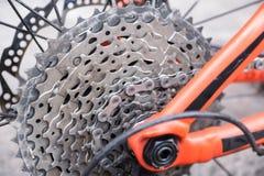 Gaveta traseira da bicicleta fotografia de stock