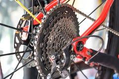 Gaveta traseira da bicicleta foto de stock
