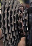 Gaveta velha da engrenagem da bicicleta imagens de stock royalty free