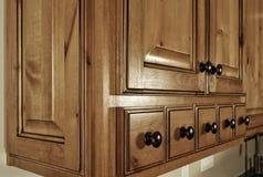 Gavetas modernas da cozinha Foto de Stock