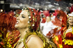 Gaviões DA coloca - São Pablo - el Brasil - carnaval Imagen de archivo libre de regalías