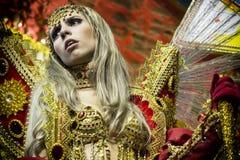 Gaviões DA coloca - São Pablo - el Brasil - carnaval Imágenes de archivo libres de regalías