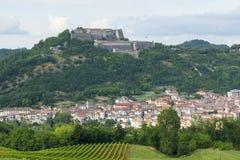 Gavi (Piemont, Italien) lizenzfreies stockbild