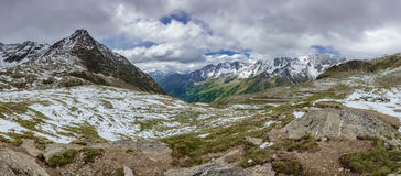 Gavia pass in July Royalty Free Stock Photography
