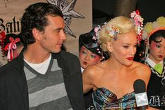Gavin Rossdale,Gwen Stefani. Gavin Rossdale and Gwen Stefani at the Interscope Records CD Release Party for Gwen Stefani's 'Love, Angel, Music, Baby' at The royalty free stock images