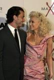 Gavin Rossdale och Gwen Stefani Arkivbild