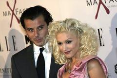 Gavin Rossdale och Gwen Stefani Arkivbilder
