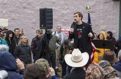 Gavin Seim przy protestem Zdjęcie Royalty Free