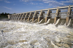 Gavins Point Dam Tailwaters Royalty Free Stock Photo