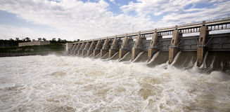 Gavins Point Dam Tailwaters Royalty Free Stock Photos