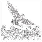 Gaviota över havet Arkivfoton