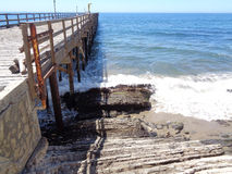 Gaviota Pier and Boat Launch Stock Images