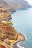 Gaviotas strand och väg till San Andres i Tenerife Royaltyfri Bild